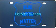 Blue Lives Matter License Plate Vanity Tag Police Sheriff State Support Dallas