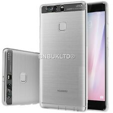 Clear ultra slim gel étui et protection d'écran verre pour Huawei P9 plus