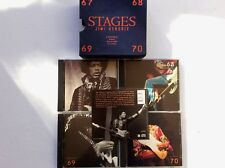 JIMI HENDRIX ♫ STAGES ♫ 1991 EX ♪ 4 CD BOX SET ~ LIVE ~ IN THE WEST ~ VOODOO
