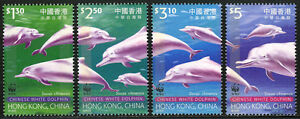 Hong Kong 875-878, MNH Chinois Blanc Dolphin. Wwf Emblème, 1999