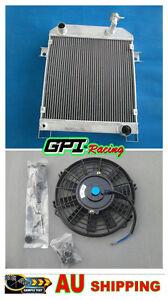 RADIATOR FOR JAGUAR MARK 2 MK2 MK II DAIMLER 2.5 V8; V8-250 MT 1962-1967+FAN
