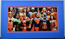 JUSTICE HEROES PRINT PROFESSIONALLY MATTED Alex Ross art