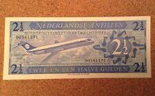 Netherlands Antilles Banknote. 2 1/2 Gulden. Dated 1970