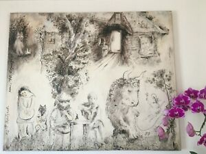 Tale of Tales Y.Norstein's /Norshteyn Signed Giclée on Canvas (Midday)