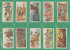 WILLS  NEW  ZEALAND  -  SCARCE SET OF 25  PIRATES  &  HIGHWAYMEN  CARDS  -  1925