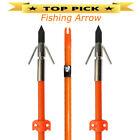 "3pcs 32"" Fishing Arrow Fiberglass Solid Arrows Bowfishing with Broadhead Stopper"