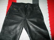 Men's Diesel Black Gold Pelle Leather Pants, Size 28
