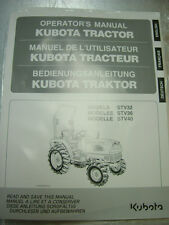 Kubota STV32, STV36, STV40 owners manual