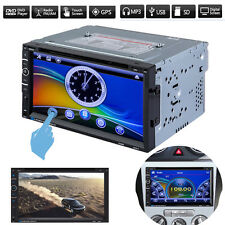 """7"""" HD Double 2 DIN Bluetooth GPS Navigation Car Stereo Radio CD DVD Player Touch"""