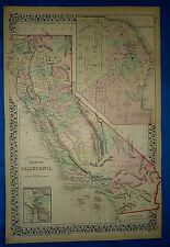 Vintage 1876 Atlas Map  ~ CALIFORNIA - SAN FRANCISCO ~ Old Antique Original