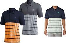 adidas Golf 2018 Ultimate 365 Heather Block Polo Shirt Noble Indigo / Real Gold XL