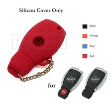 Leather Texture Silicone Cover fit for MERCEDES BENZ Smart Remote Key Case RD