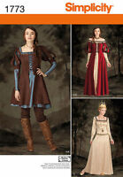 Simplicity 1773 Sewing PATTERN Fantasy,Larping, Cosplay Dress Costume H5 6-14