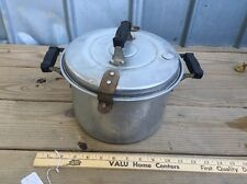 VTG ZANO Kitchen Pot Pressure Waterless Cooker Steamer Canner ALUMINUM BAKELITE