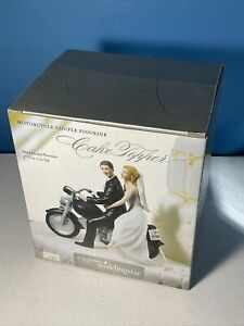 Simply Better Wedding Star Motorcycle Couple Figurine Cake Topper Porcelain