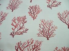 """Cotton Beach Nautical  Coral   54"""" Fabric Decorator Upholstery"""