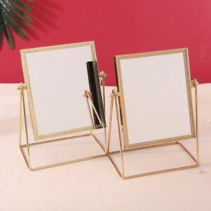 Nordic Golden Edge Decorative Mirror Vertical Single Side Luxury Makeup Mirror