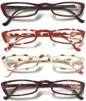RR21 Womens Lightweight Pocket Small Cat Eye Reading Glasses Thin Frame Designed