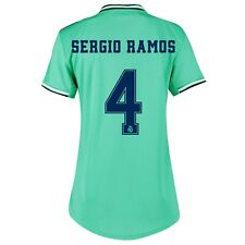 C129 Womens Medium Real Madrid Third Shirt 2019-20 - Free Sergio Ramos 4 &Badge