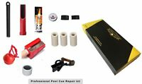 50% Off! Pool Cue Tip Repair Accessory Kit, 3 Tips ,3 Ferrules,Tip Clam