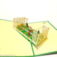 POP UP Karte *Fußballspiel* 3D Klappkarte Urlaub Grußkarte Hobby Sport Fußball