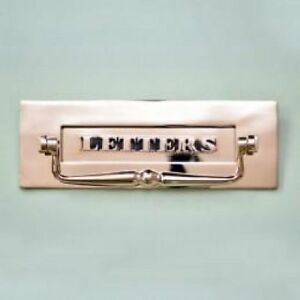 CLASSIC NICKEL 'LETTERS'  LETTERBOX WITH CLAPPER  (*ATC)