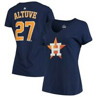 Jose Altuve Houston Astros Majestic Women's Double Play Cap Logo Name & Number