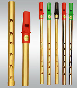 Irish clare TIN pipe in D-pipes, Penny Flauta Irish penny pipe
