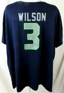 Seattle Seahawks Women Plus Size 4X Russell Wilson #3 Jersey T-shirt ASSE 156