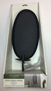 Smith & Hawken Taper Candle Sconce Black Finish Wall Decor Modern Home Holder