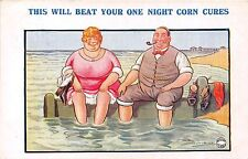 POSTCARD  COMIC   Seaside  Corn  Cure....