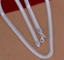 "925 Sterling Silver L/F Snake Chain Soft-Flex Necklace -  6mm 20"" - Ladies/Mens"