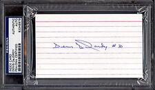 DENIS DEJORDY PSA DNA AUTOGRAPH AUTO SIGNED INDEX CARD CHICAGO BLACKHAWKS KINGS