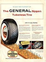 1954 General Nygen PRINT AD Tubeless Whitewall Nylon Tire
