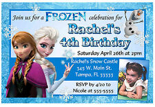 DISNEY FROZEN BIRTHDAY INVITATIONS DESIGN W/PHOTO