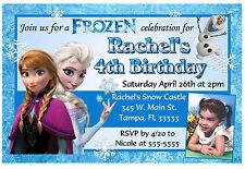 DISNEY FROZEN BIRTHDAY INVITATIONS DESIGN W/PHOTO