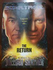 Star Trek The Return Legends Never Die by William Shatner Hard Back