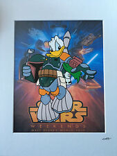 Disney - Donald Duck - Star Wars - Boba Fett - Hand Drawn & Hand Painted Cel