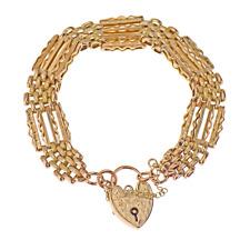 9ct Rose Gold Fancy Gate Link Bracelet