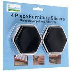 HOME LIFE ESSENTIALS 4 Piece Furniture Sliders Great For Carpet & Floor Tile NIP