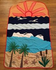 Handmade Beach Ocean Quilt Wall Hanging Lap Throw Nautical Patchwork