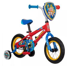 "Nickelodeon Paw Patrol 12"" Kids' Bike Red Blue with Training Wheels"