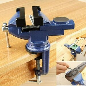 360° Engineers Vice Vise Swivel Base Workshop Clamp Jaw Work Bench Table Vices