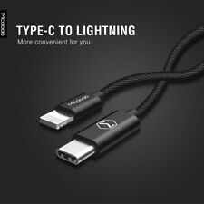 MCDODO Type C USB-C to Lightning Cable Fast Charge Cord Cable for iPhone 8 7 6 +