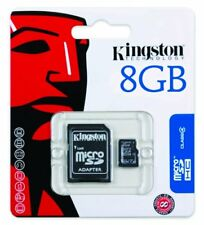 8GB KINGSTON MICRO SD CLASS 4 FLASH CARD WITH ADAPTER FOR PHONES CAMERA