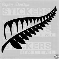 NZ KIWI FERN DECAL No2 200x175mm Capt'n Skullys Stickers Online MPN 916 M/PUR