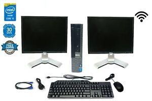 Custom Bundle Dell Optiplex Quad Core PC Desktop i5 3.2GHz KB Mouse Monitor WIFI