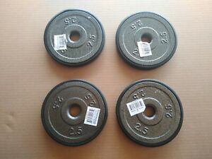 """(4) Marcy 2.5 lb Standard 1"""" Grip Weight Plates - Brand New - FAST SHIP!"""