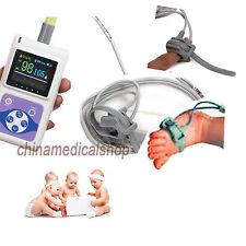 New Neonatal Infant pediatric Kids Born Pulse Oximeter Spo2 Monitor PC software