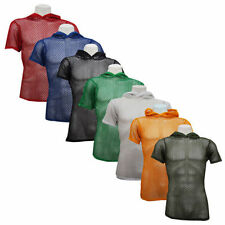Cotton Hooded Patternless Fitted T-Shirts for Men